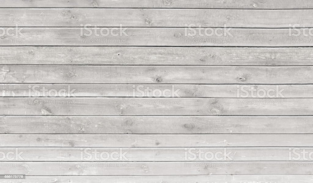 Vintage whitewash painted rustic old wooden horizontal  planks wall  textured background. Faded natural wood board panel structure. stock photo