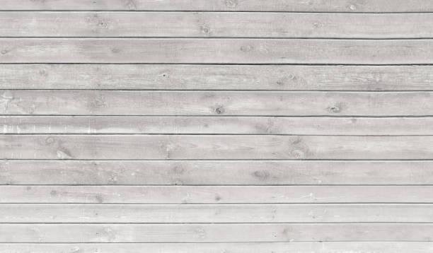 vintage whitewash painted rustic old wooden horizontal  planks wall  textured background. faded natural wood board panel structure. - whitewashed stock photos and pictures
