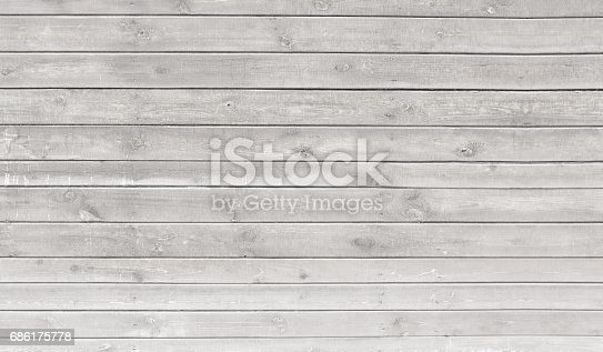 Vintage Whitewash Painted Rustic Old Wooden Horizontal