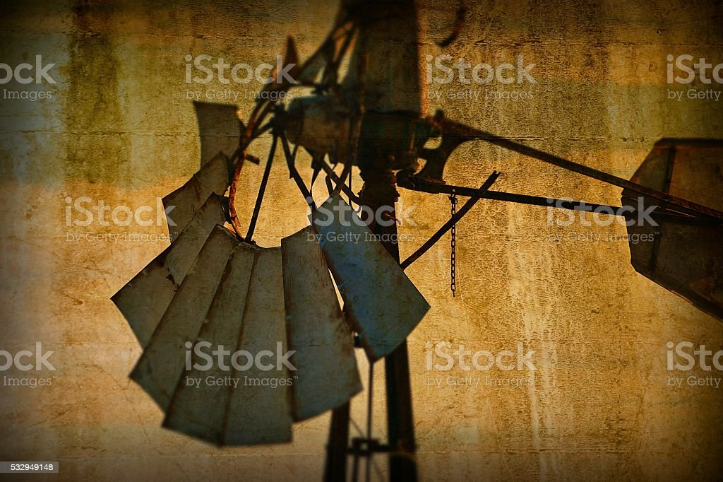 Vintage Windmill Background stock photo