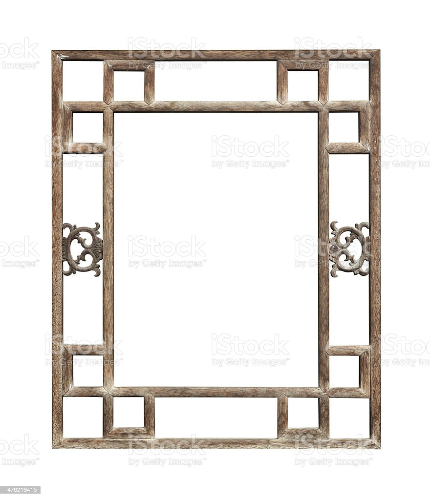Vintage Window Frame Chinese Style Stock Photo More Pictures Of Rh Istockphoto Com Clip Art Black And White