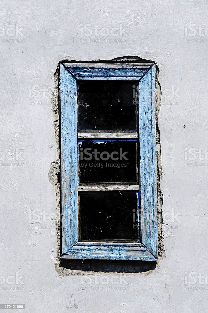 Vintage Window With Dirty Glass stock photo