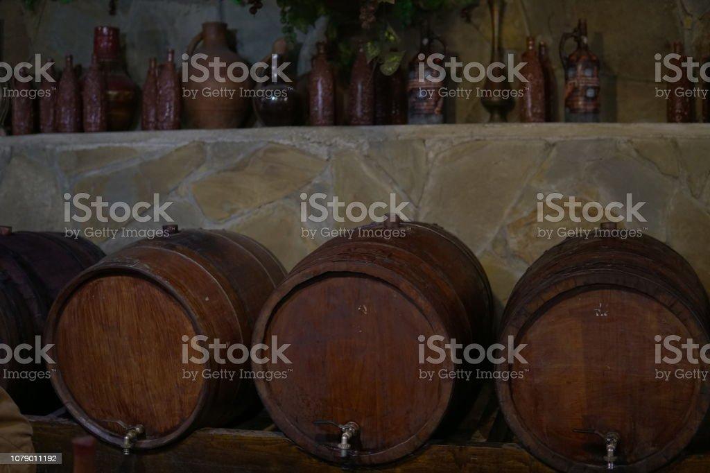 vintage wine cellar cask wine and