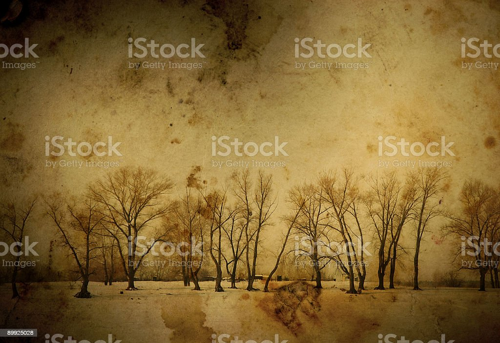 vintage winter royalty-free stock photo