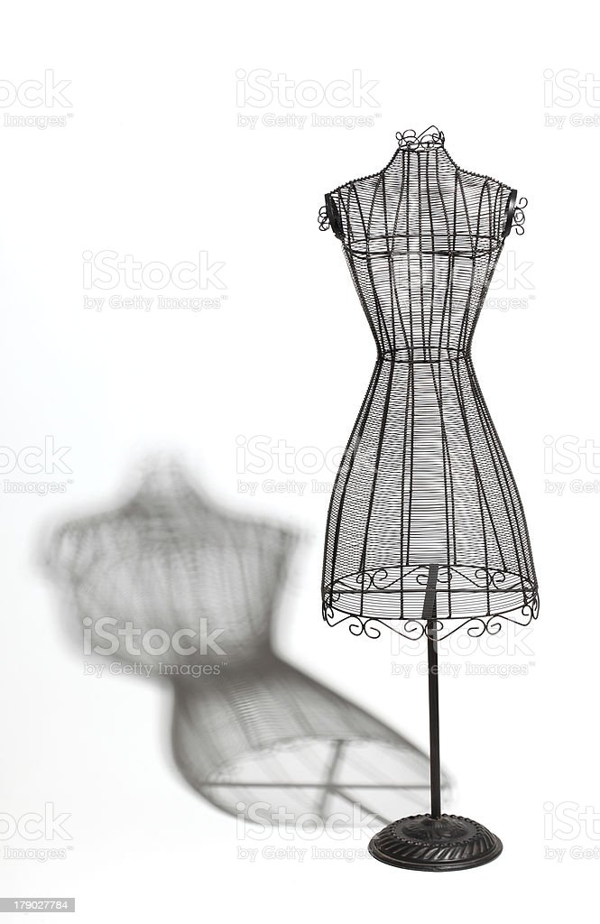Vintage Wire Dress Form stock photo