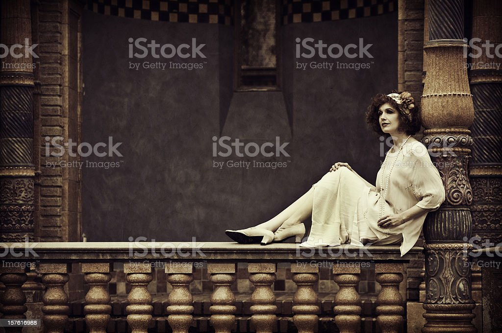 Vintage Woman stock photo
