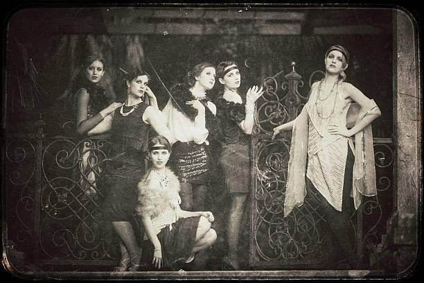 vintage damen - 20er jahre stock-fotos und bilder