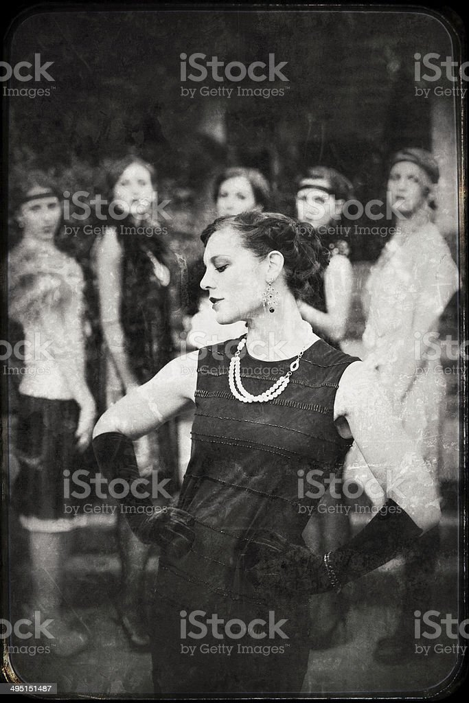 Vintage women stock photo