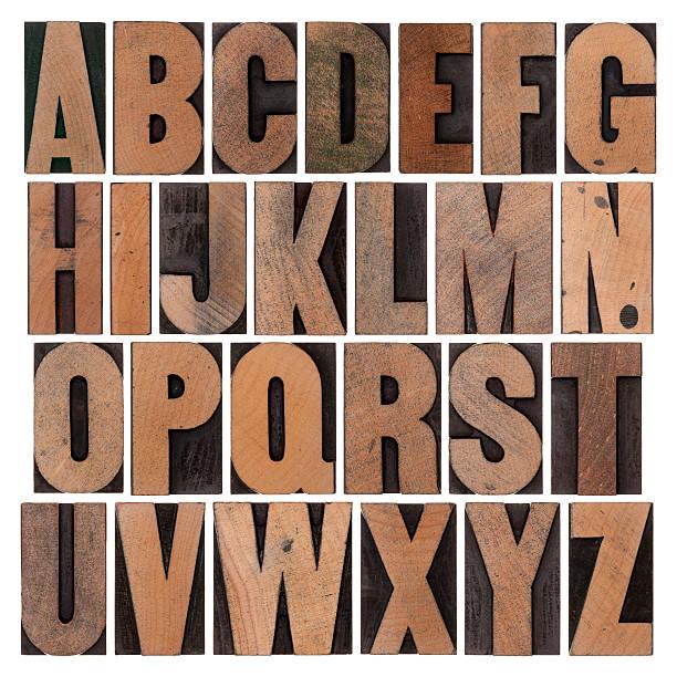 vintage wood alphabet set - ruth 個照片及圖片檔