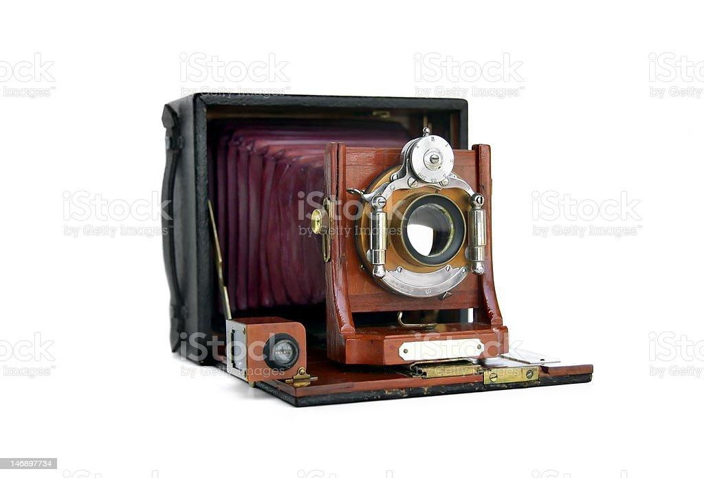 Vintage Wood Camera royalty-free stock photo