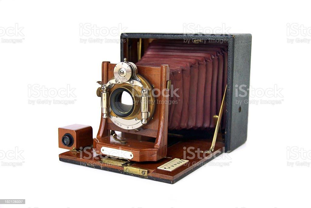 Vintage Wood Camera stock photo
