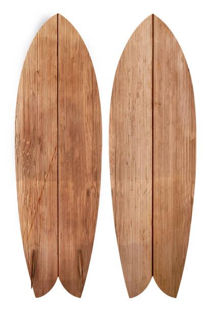 Vintage Holz Fischbrett Surfbrett – Foto