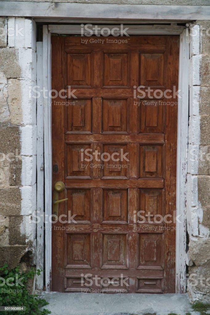Vintage Wood Front Door Royalty Free Stock Photo