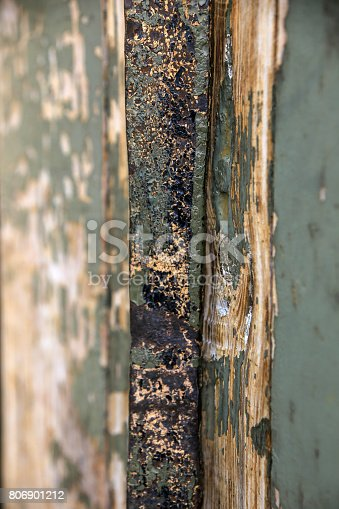 894368086 istock photo Vintage wooden background with peeling paint 806901212