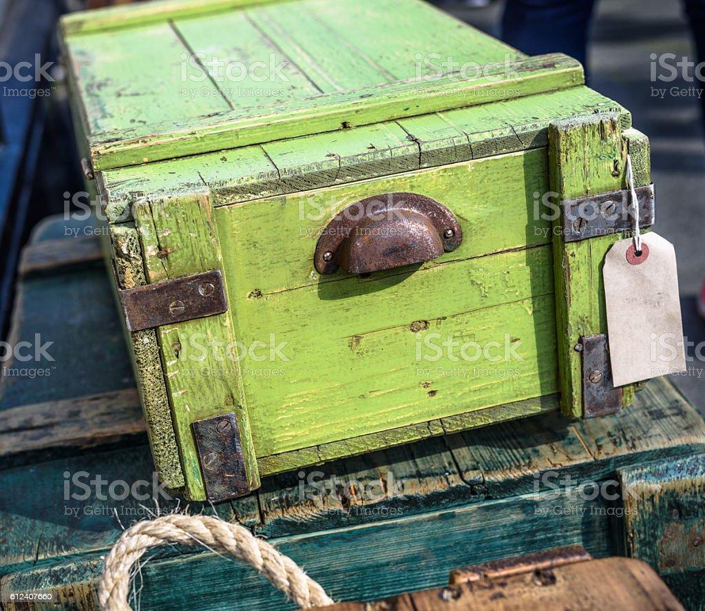 Vintage Wooden Boxes. stock photo