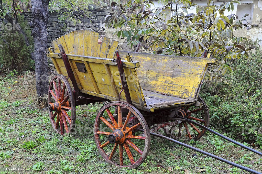 Vintage Wooden Cart stock photo