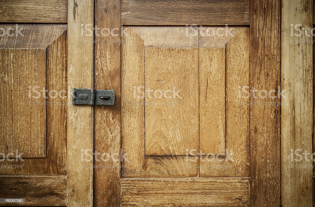 vintage wooden door royalty-free stock photo