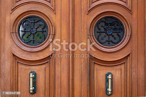 Vintage door details. Architecture of Paris France.