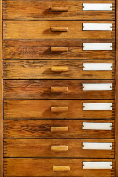 vintage houten laden met lege glazuur labels - netherlands map stockfoto's en -beelden
