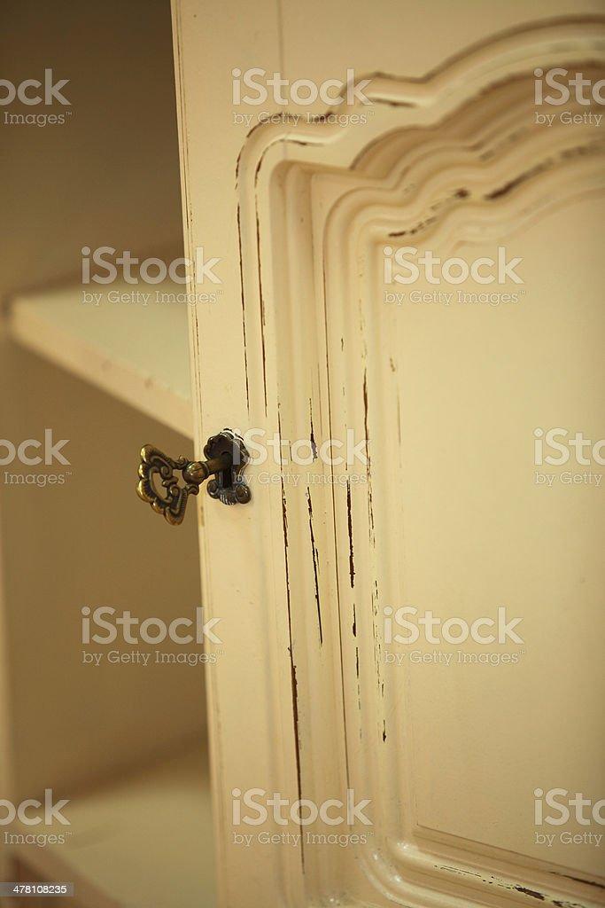 vintage wooden dresser royalty-free stock photo