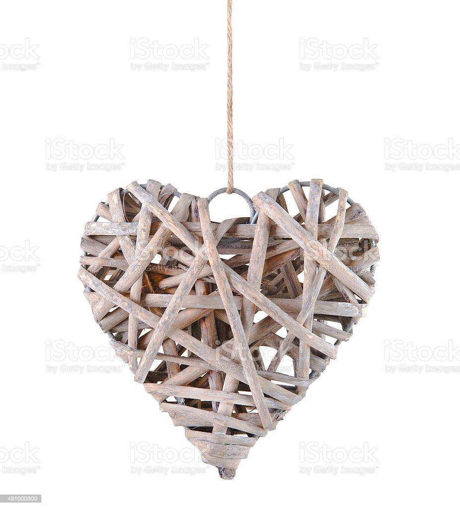 Vintage wooden heart ornament stock photo istock