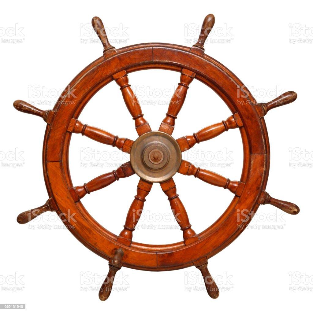 Gouvernail de bateau en bois Vintage volant - Photo