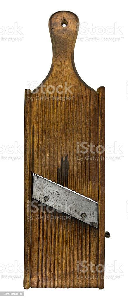 vintage wooden shredder stock photo