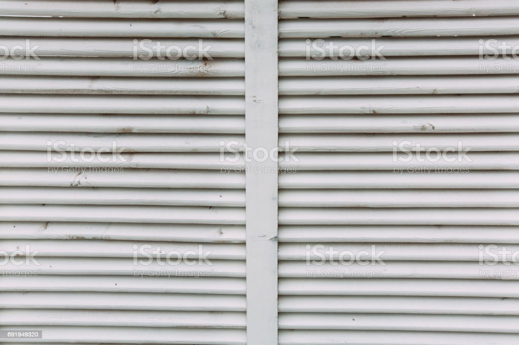 vintage wooden shutter, jalousie stock photo