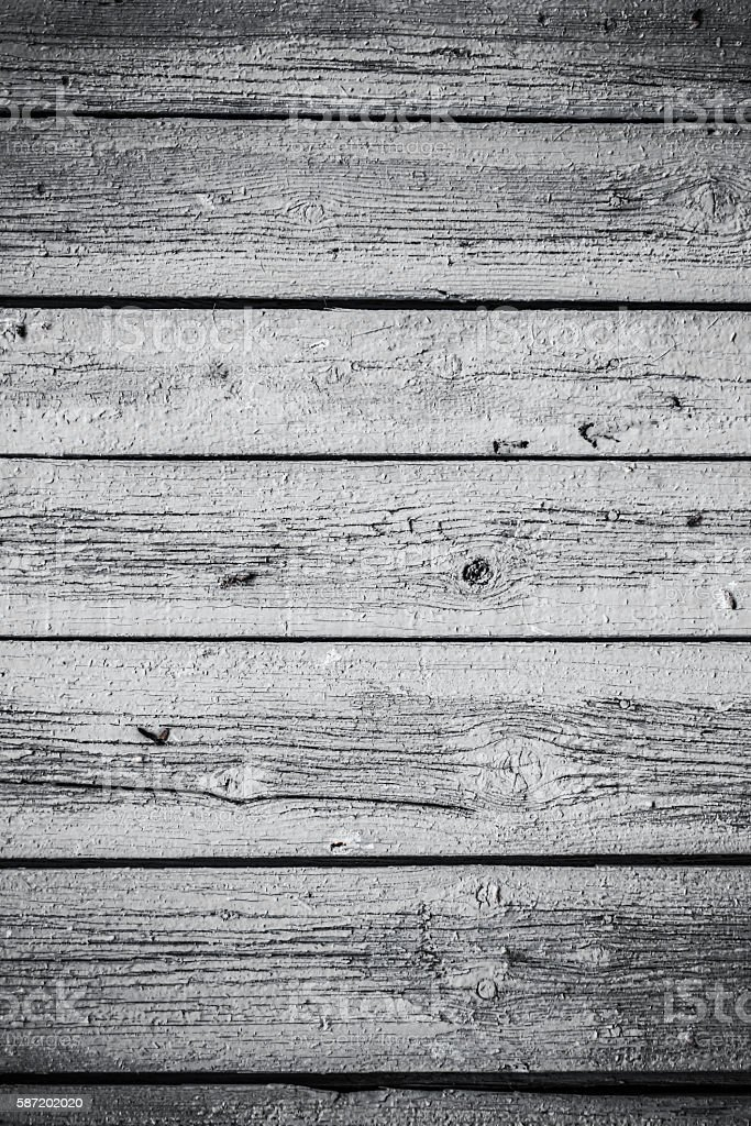 Vintage wooden white Board. Beautiful background. - Photo