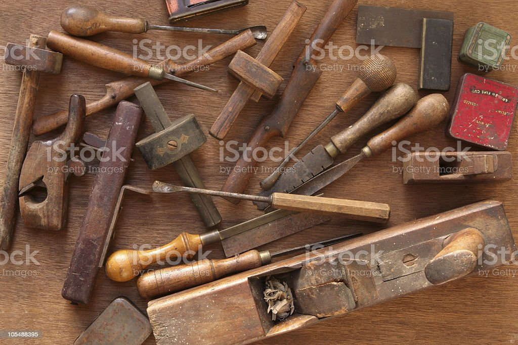 Vintage Woodworking Tools royalty-free stock photo