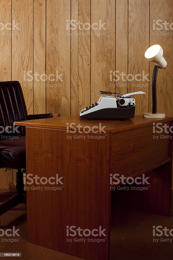 Vintage Work Space royalty-free stock photo