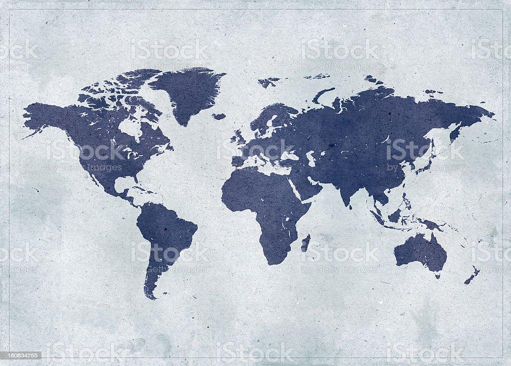 Mapa del mundo Vintage - Foto de stock de Abstracto libre de derechos