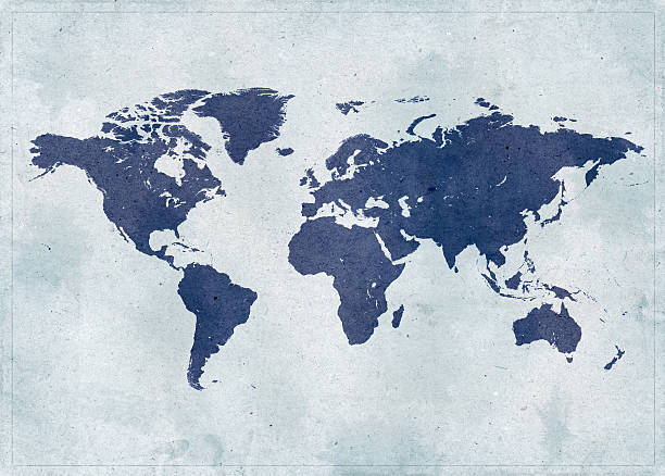 vintage world map - world map stock pictures, royalty-free photos & images