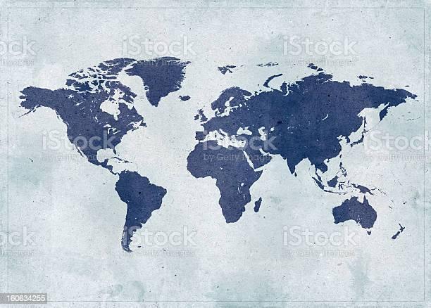 Mapa Del Mundo Vintage Foto de stock y más banco de imágenes de Abstracto