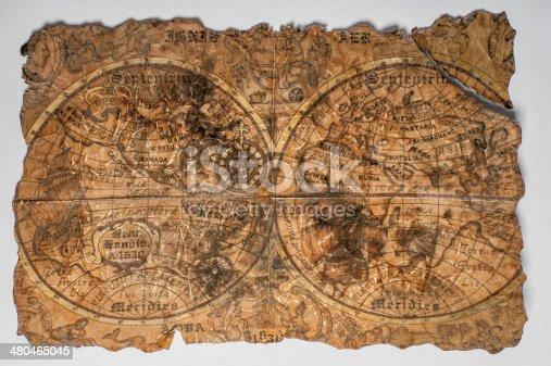 istock Vintage world map 480465045