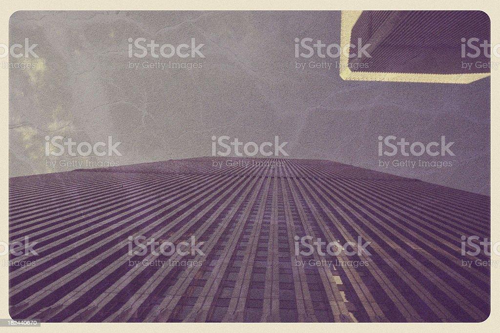 Vintage World Trade Center Postcard stock photo