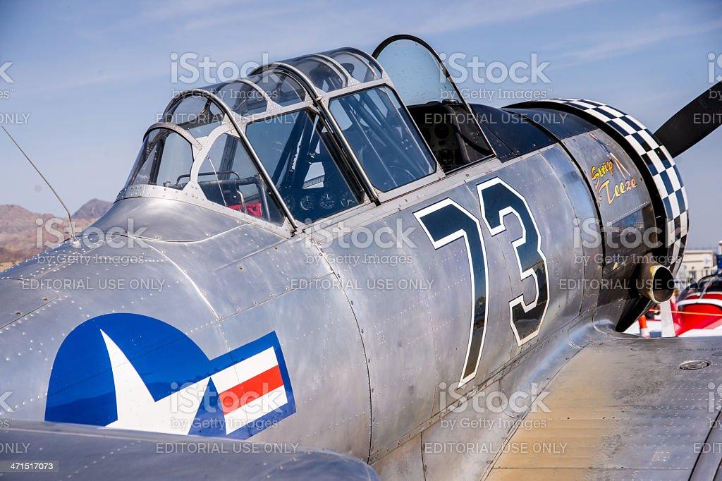 Vintage World War II Warplane royalty-free stock photo