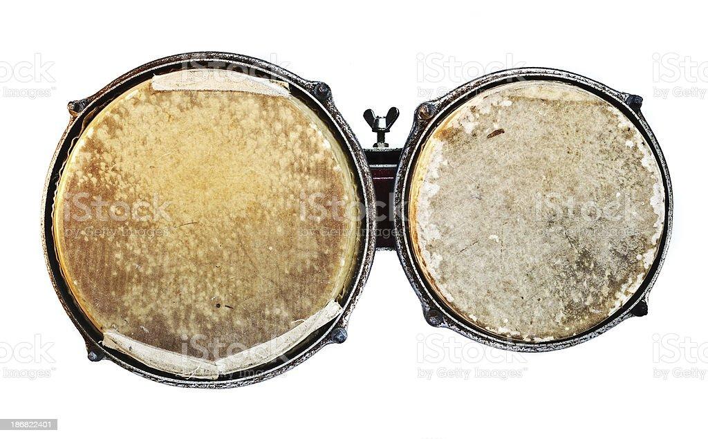 vintage worn bongos stock photo