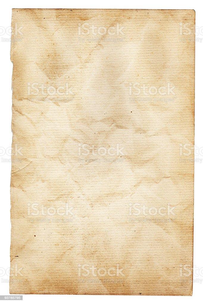 Vintage Wrinkled Paper XXL stock photo