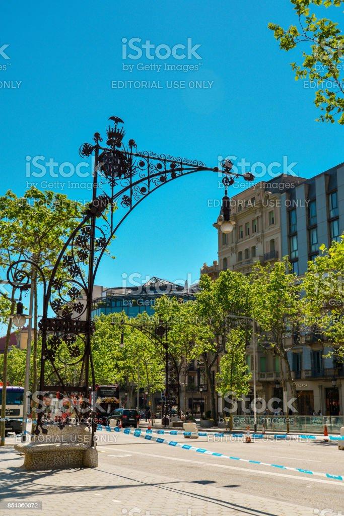 vintage wrought Barcelona Lantern stock photo