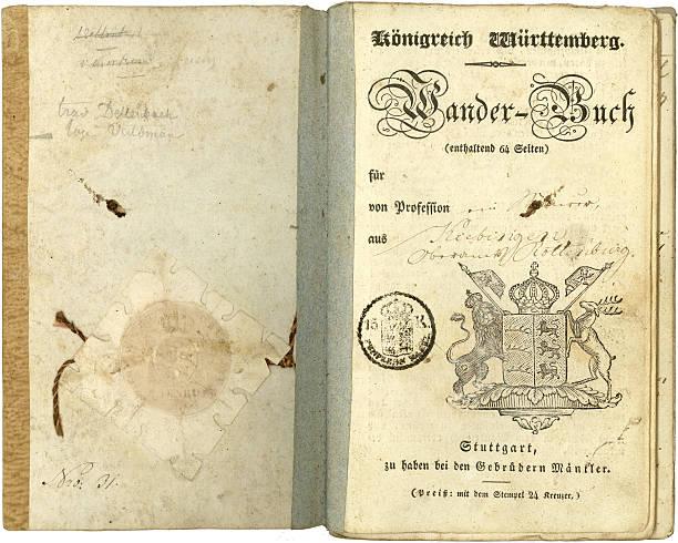 vintage jahren reisen (1837 - pilze bestimmen stock-fotos und bilder