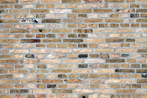 Vintage yellow brick wall - Image for website background.
