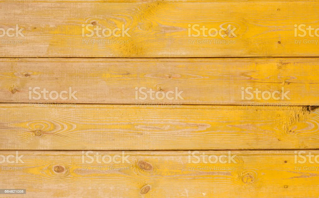 Vintage Yellow Faded Rustic Wooden Background stock photo