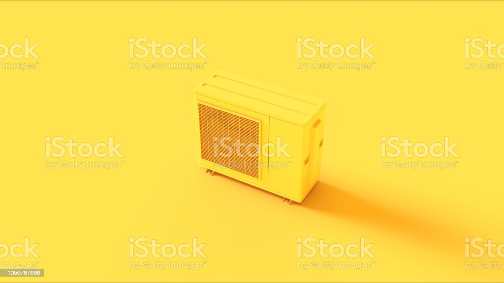 Vintage Yellow Office Cooling fan stock photo