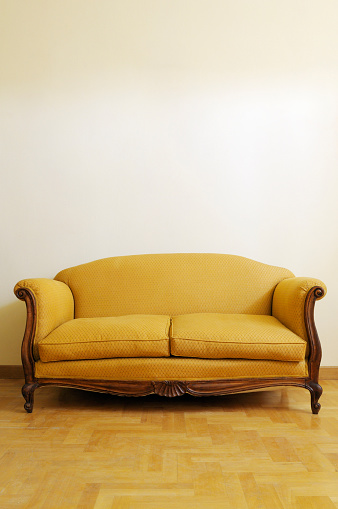 Vintage sofa in the living room