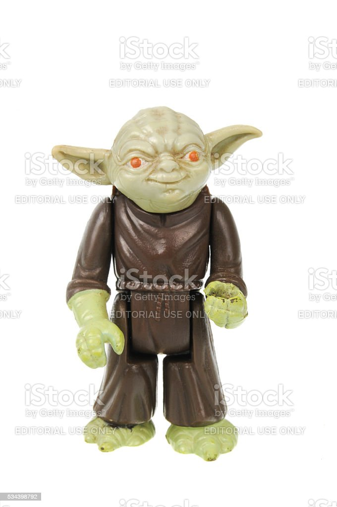 Vintage Yoda Action Figure stock photo
