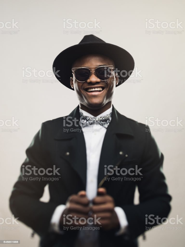 Vintage Young Man Wearing Black Suit And Hat Stock Photo   More ... e6bf0036f916