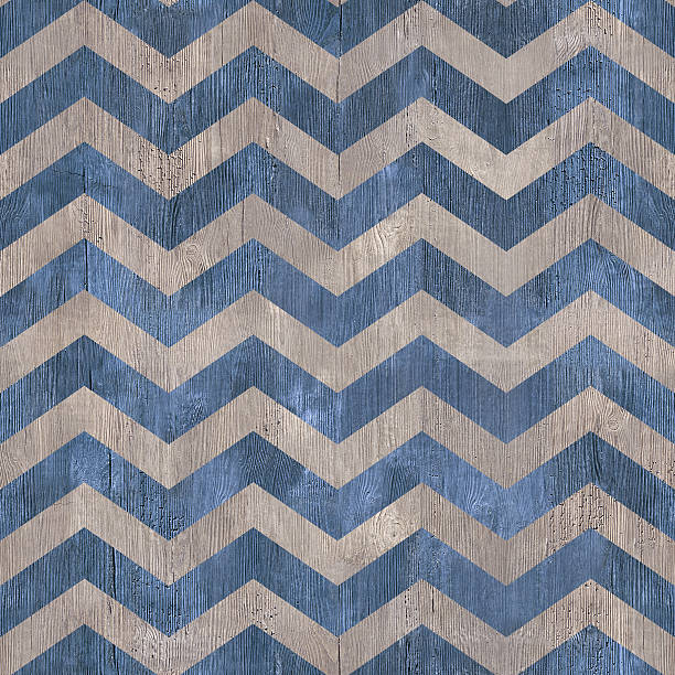 vintage zig zag pattern - seamless background - wooden texhture stock photo