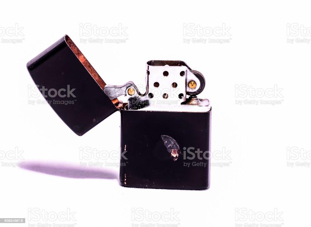 Vintage Zippo Style Lighter stock photo