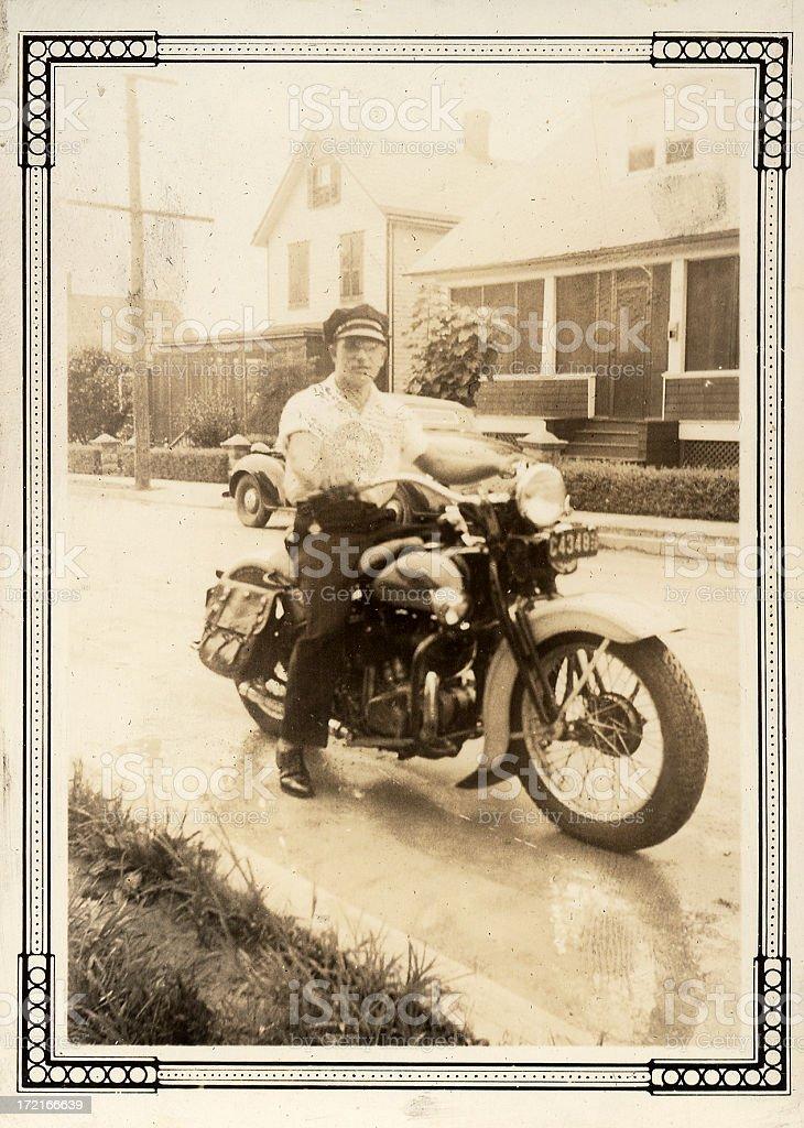 vintage_motorcycle_1 royalty-free stock photo